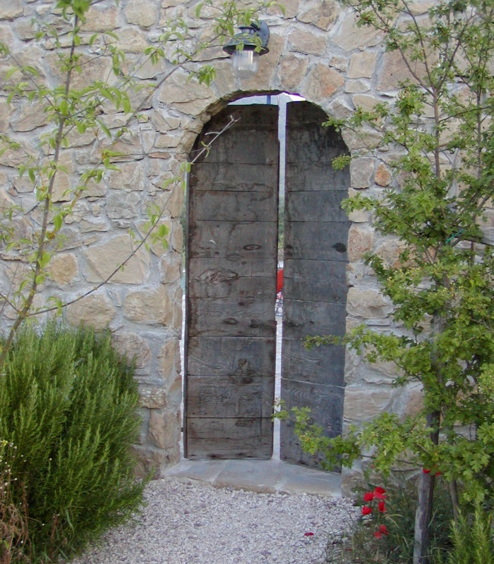 Door to swimming pool